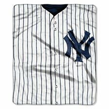 New York Yankees 50x60 Plush Raschel Throw Blanket - Jersey Design [NEW] MLB