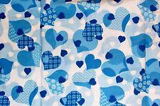 NEW Scrubs   ~   V Neck Print Scrub Top   ~   S   ~   Love & Care Cool Blue