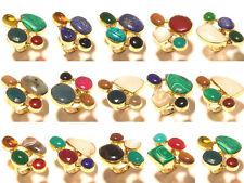 Tibetan Silver Brass 10 Pcs Ring Gemstone Fashion Jewellery