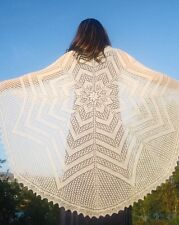 LACY CIRCLE OF LIFE SHAWL to KNIT by EUGEN BEUGLER for FIBER TRENDS