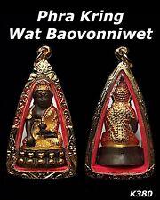 Phra Kring Somdej Bell Ring Gold Case Thai Buddha Amulet Talisman Necklace K380