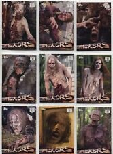 Walking Dead Season 6 Complete Walkers Chase Card Set W1-10