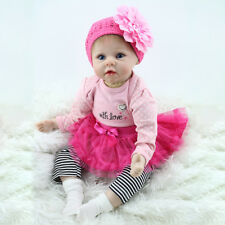 22in Reborn Babies Newborn Girl Doll Soft Baby Toy Bambini Bambola regalo di· PQ