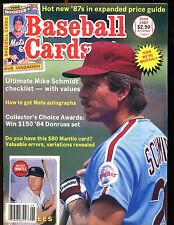 Baseball Cards Magazine June 1987 Mike Schmidt jhscd3