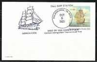 United States 1983 post card cancel in Philadelphia on Gorch Fock Tall ships