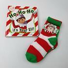 Moret Kids 3 Pack Elf on the Shelf Crew Socks Ho Ho Ho Its Your Elf Board Book