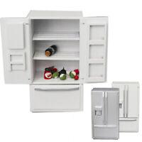 1/12 Miniature Dollhouse Wooden Refrigerator Model Kitchen Furniture Decor Novel