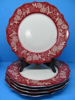 222 Fifth Andover Pinecone Dinner Plates Set of 4 Holiday Christmas Bundle of 5