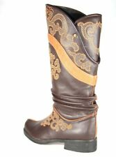 Brown Curved Boot