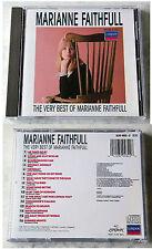 MARIANNE FAITHFULL Very Best / As Tears Go By,... 1987 Blue Red London CD TOP