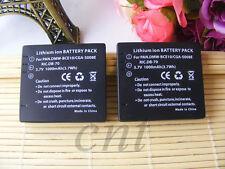 2X Battery For Panasonic CGA-S008E Ricoh CX1 DB-70 R10 DMW-BCE10PP DMWBCE10PP