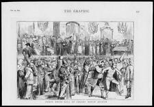 1879 - Antique Print LONDON Colney Heath Fancy Dress ball Asylum   (018)