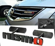 Bolt on Metal Red Black NISMO Front Emblem Badge For Grill Billet For NIssan