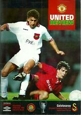 MANCHESTER UNITED V GALATASARAY 1993/94 EUROPEAN CUP 2ND RND PROGRAMME