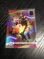 2020 Donruss Elite Ben Roethlisberger #/93 Red Aspirations Refractor SP Steelers
