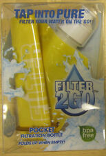Filter 2 Go Pocket Filtration Bottle Yellow New