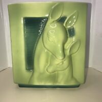 Royal Copley Deer & Fawn Pottery Planter Vase Vintage