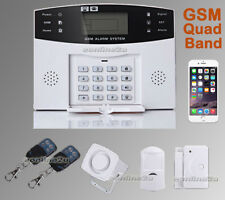 WIRELESS LCD GSM AUTODIAL HOME HOUSE OFFICE SECURITY BURGLAR INTRUDER ALARM SALE