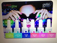 NEW GELISH Harmony ALL ABOUT THE GLOW Summer Collection 2013 SET OF 6 Gel Colour