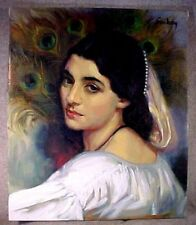Evelyn Embry Original Pastel Portrait Woman & Feathers