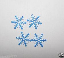 "100 mini snowflake turquoise frozen decoration great for elsa cape dress 6/8"""