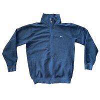 "Nike Sports Track Jacket Dark Grey Full Zip S Small 20"" Mens Fleece Jumper"