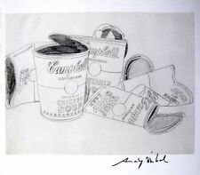 ANDY WARHOL HAND SIGNED SIGNATURE * CAMPBELL'S SOUP CANS *  PRINT  W/ C.O.A.