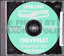 1958 1959 1960 Chevy Shop Manual CD Impala El Camino Bel Air Biscayne Chevrolet