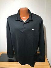 Mens Nike Golf Dri Fit L/S Polo/Golf Shirt 2Xl (Xxl) - Black - Polyester
