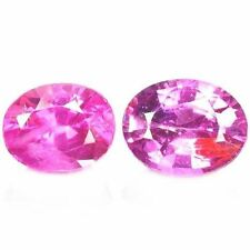 Heating Oval Pink Loose Natural Sapphires