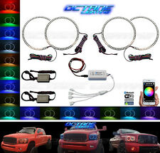 06-08 Dodge Ram Sport Multi-Color Changing LED Headlight Halo Ring BLUETOOTH Set