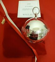2021 Silverplate Wallace Sleigh Bell Christmas Ornament 51st Ed w/ Box #11577