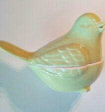 Statuette d'oiseau Design en faïence anis, neuve 🔔