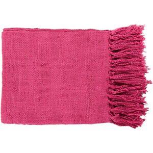 Tilda by Surya Throw Blanket, Bright Pink - TID005-5951