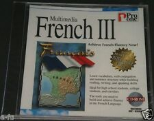 Pro One Multimedia French Iii Achieving Fluency in French Pc Cd-Rom New Sealed