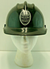 Vintage E.D. Bullard Hard Boiled Black Plastic Hard Hat D&B Nuclear Security
