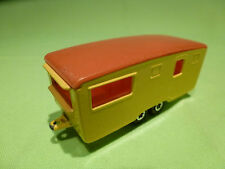 MATCHBOX TRAILER CARAVAN - YELLOW - IN GOOD CONDITION