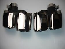 Fits Porsche Macan 14-17 Square Turbo Style Exhaust Tips Polished 2.0T