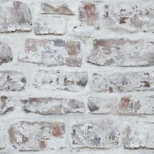 WHITEWASHED WHITE BRICK EFFECT WALLPAPER 671100 ARTHOUSE FEATURE WALL DECOR NEW