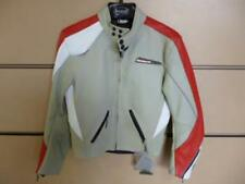 Neuf Blouson cuir moto mike the bike taille M pour femme gris / rouge