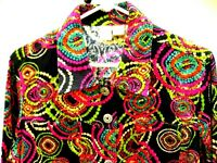 COSTUME COLORFUL XS S M FESTIVAL PSYCHEDELIC GEOMETRIC FLORAL HIPPY JACKET WOMEN