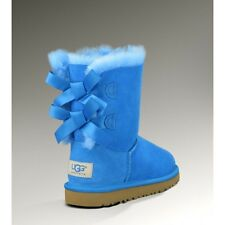 Ugg Australia Kids Bailey Bow Authentic Boots Blue Girl Size 10 New In Box