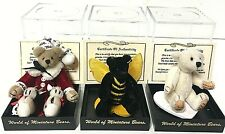 World Of Miniature Bears Limited Edition Jointed Teddy Bear Lot of 3