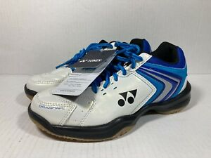 Yonex Power Cushion 47 Unisex Blue White Badminton Court Shoes Womens 6.5 Mens 5