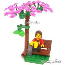Lego City Park Minifigure Cherry Pink Apple God Garden Eden Tree of life 秋桜 NEW