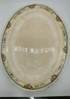 Mount Clemens Pottery MTC3 MCP Co fruit flowers gold trim OVAL SERVING PLATTER