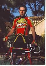 CYCLISME carte cycliste WILLEMS LUDWIG équipe LOTTO MOBISTAR 1998