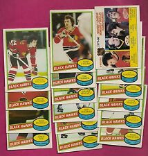 1980-81 OPC CHICAGO HAWKS CARD LOT  (ESPOSITO + WILSON ) (INV# A2305)