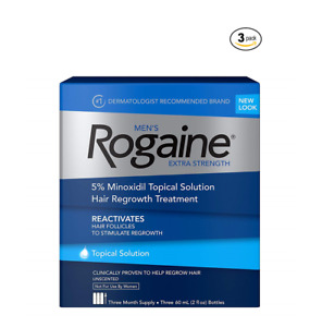 ROGAINE MEN'S TOPICAL SOLUTION (9 Month) 5% minoxidil extra strength liquid 2023