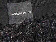 AMERICAN RETRO Black80%SilkTexturedMicroMiniSz36(S)asNEW